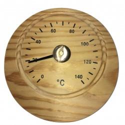 Thermomètre Pour Sauna En Bois Style Rond Moyen