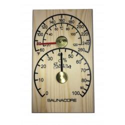 Thermomètre/Hygromètre Pour Sauna En Bois